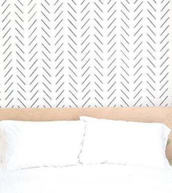 herringbone simple wall stencil