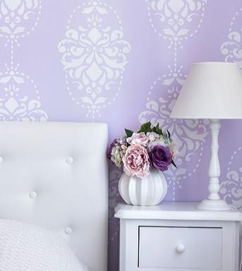rococo wall stencil