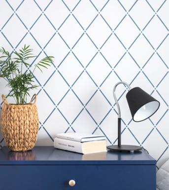 Trellis Light wall stencil