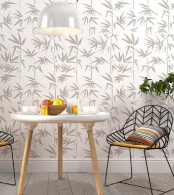 bamboo wall stencil