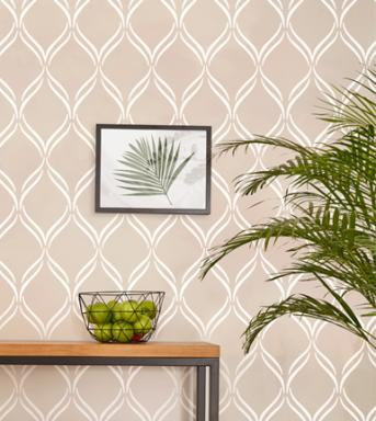 Twist Lattice wall stencil