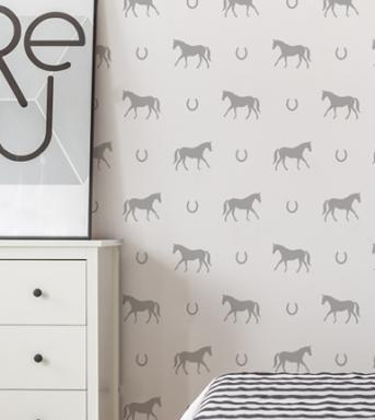 horses wall stencil