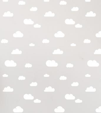 clouds wall stencil