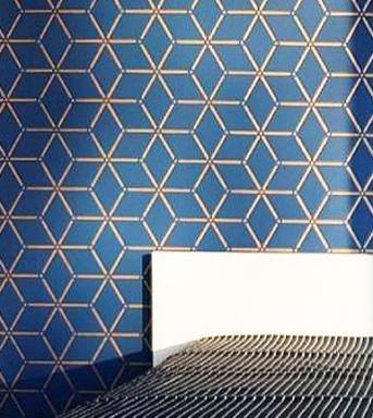 rhombus wall stencil