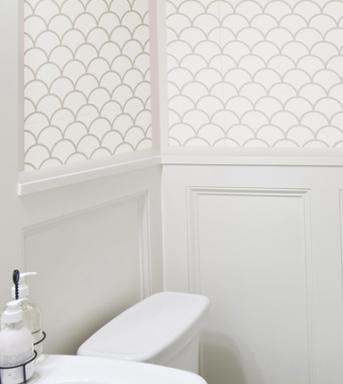 fish scale wall stencil