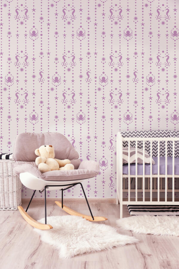 Baby room interior with crib. House design